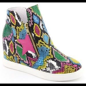 Shoes - NEW ARRIVAL Wedge Multi Color Sneaker